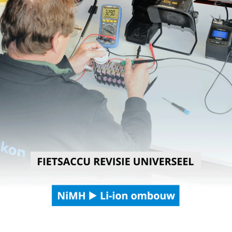 24 Volt NiMH omzetten naar Li-ion Universeel (inclusief nieuwe oplader)